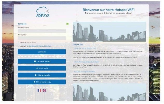 HotSpot Manager : Solution Cloud pour le Wifi Guest Acces et Public par Adipsys